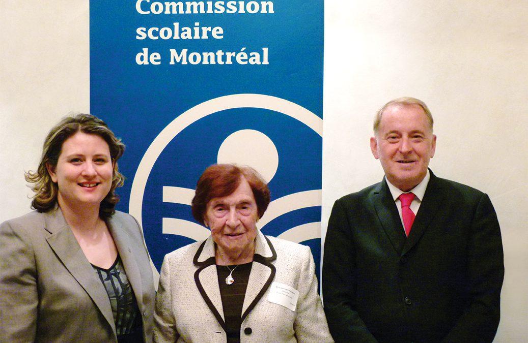 Sœur Gertrude Thibodeau honorée par la CSDM