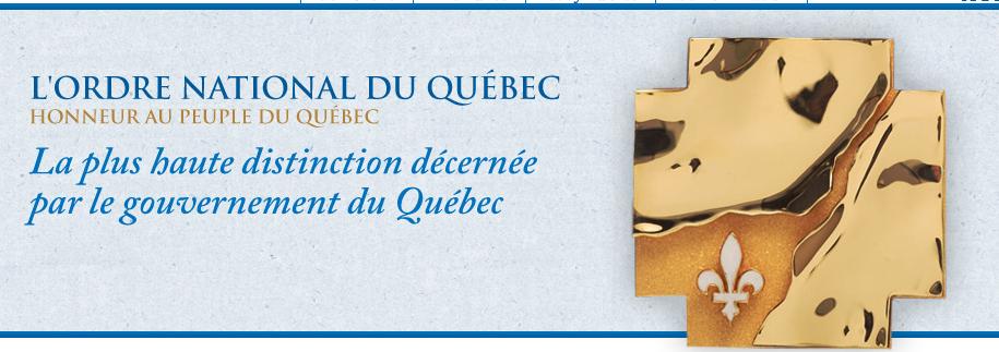Soeur Angèle reçoit l'insigne de l'Ordre national du Québec