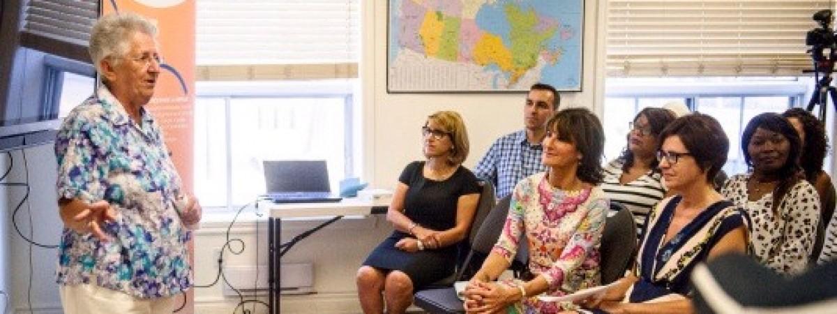 Visite de la ministre de l'Immigration au CSAI