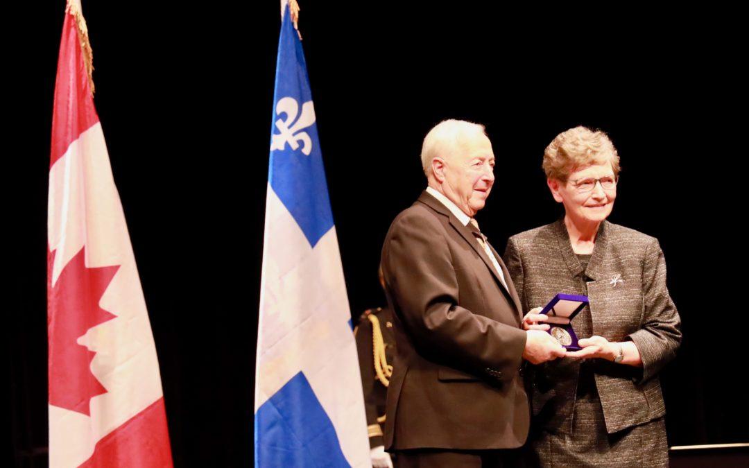 Bravo Gisèle pour cette Médaille du lieutenant-gouverneur du Québec !